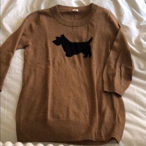 J. Crew Scottie Dog Sweater S